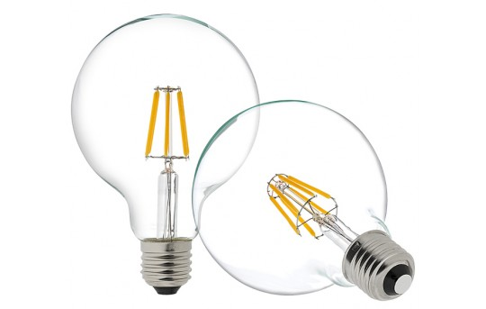 G30 LED Vanity Bulb - 60 Watt Equivalent LED Filament Bulb - Dimmable - 600 Lumens - G30D-x5DF