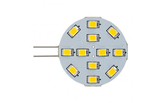 G4 LED Boat and RV Light Bulb - 12 LED - Bi-Pin LED Disc - 240 Lumens - G4-xWHP12-DAC-RVB