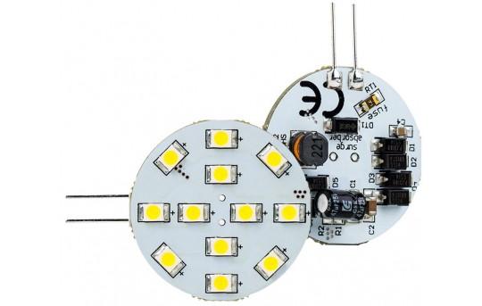 G4 LED Bulb - 2 Watt (20 Watt Equivalent) Bi-Pin LED Disc - 240 Lumens - G4-xWHP12-DAC-HH