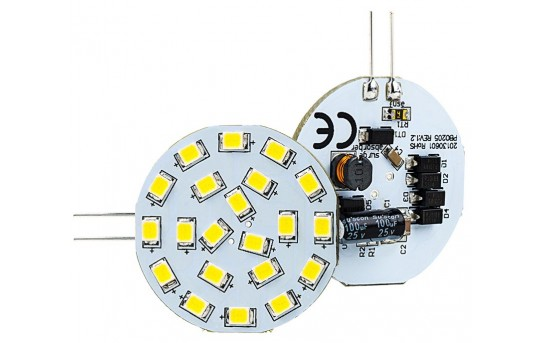 G4 LED Boat and RV Light Bulb - 40 Watt Equivalent - Bi-Pin LED Disc - 40 Watt Equivalent - 350 Lumens - G4-xWHP21-DAC-RVB