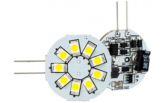G4 LED Bulb - 2 Watt (20 Watt Equivalent) Bi-Pin LED Disc - White - 170 Lumens - G4-xWHP9-DAC-HH