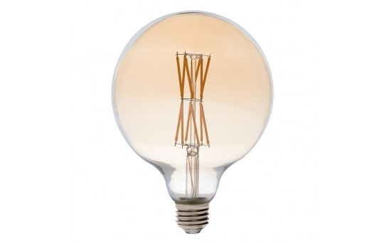G40 LED Filament Bulb - Gold Tint Vintage Light Bulb - 60 Watt Equivalent - Dimmable - 650 Lumens - G40D-WW6GF