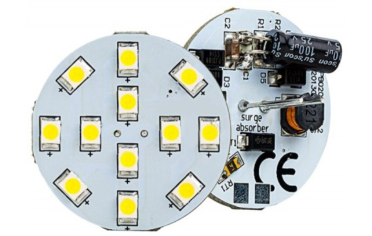 G4 LED Bulb - 2 Watt (25 Watt Equivalent) Bi-Pin LED Disc - White - 220 Lumens - G4B-xWHP12-DAC-HH
