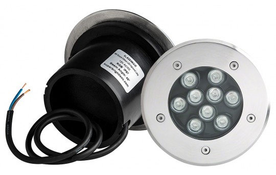 RGB LED In-Ground Well Light - 9 Watt - GL-RGB9W-U45