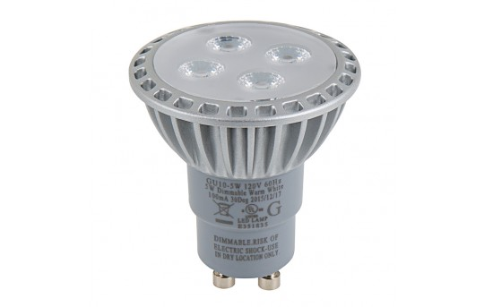GU10 LED Bulb - 35 Watt Equivalent - Bi-Pin LED Spotlight Bulb - GU10D-xWHP4-30