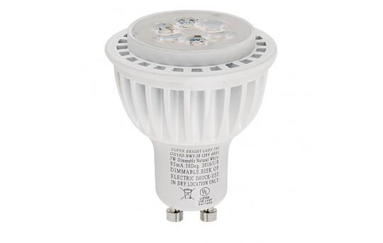 GU10 LED Bulb - 60 Watt Equivalent - Dimmable Bi Pin Bulb - 550 Lumens - GU10D-x7-30