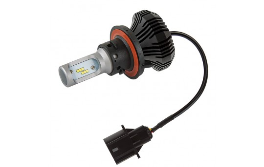 Motorcycle LED Headlight Conversion Kit - H13 LED Fanless Headlight Conversion Kit with Compact Heat Sink - H13-HLV4-M