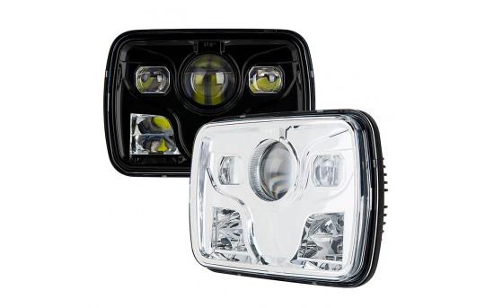 Rectangular H6054 LED Projector Headlights - LED Headlights Conversion - Sealed Beam - H6054-80x-H