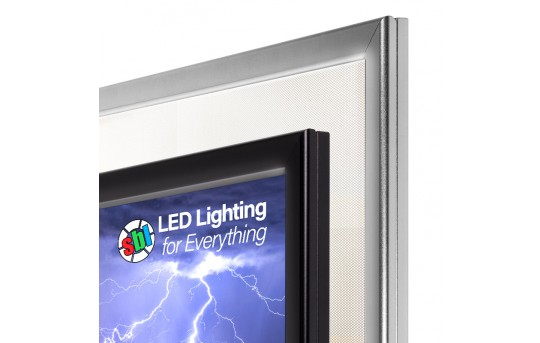 Ultra-Thin LED Light Box w/ Snap-Open Frame and Custom-Printed Luxart® Graphic - Dimmable - LBS-CP-Ax