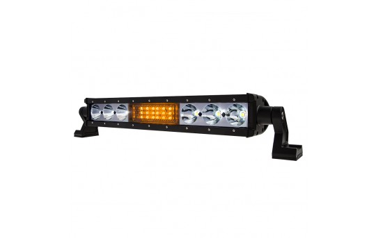 """18"""" Off-Road LED Light Bar w/ Integrated Amber LED Strobe Light Head - Built-In Controller - 60W - 4,200 Lumens - LBST-WA90WS-SP"""