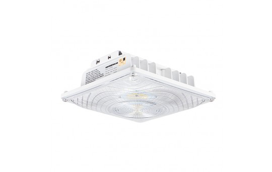 LED Canopy Lights - 55W - 4000K - Surface Mount - 175W MH Equivalent - 6,700 Lumens - LC9-NW55