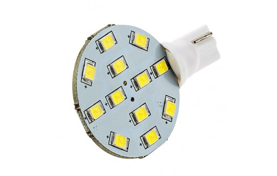 921 LED Bulb - 12 SMD LED Disc - Miniature Wedge Base - 921-xHP12-DAC-CAR