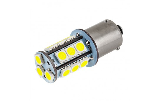 7507 (PY21W) LED Bulb - 18 SMD LED Tower - BAU15S Retrofit - BAU15S-x18-T-CAR