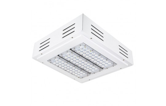 LED Canopy Lights - 150W - 5000K - Flush/Surface Mount - Square LED Beam Pattern - 400W MH Equivalent - 17,000 Lumens - FLD-CNL-60005-150W