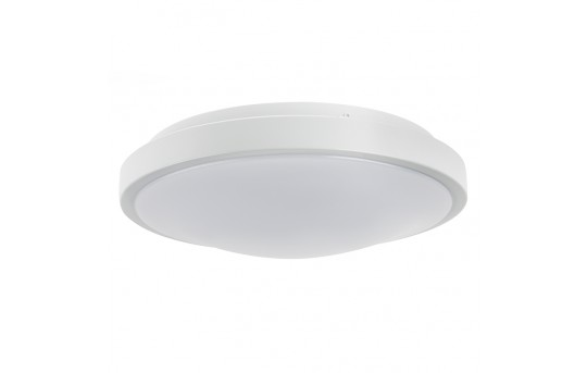 "12"" Flush Mount LED Ceiling Light w/ White Housing - 75 Watt Equivalent - Dimmable - 1,050 Lumens - CLD12-x15W"