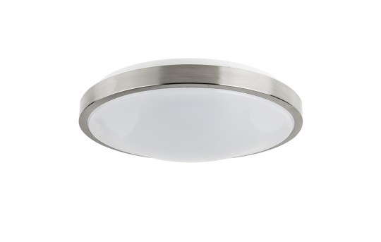"""14"""" Flush Mount LED Ceiling Light w/ Brushed Nickel Housing - 100 Watt Equivalent - Dimmable - 1,600 Lumens - CLD14-x23N"""