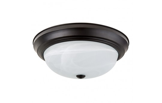 "15"" Flush Mount LED Ceiling Light w/ Oil Rubbed Bronze Housing - 100 Watt Equivalent - Dimmable - 1,600 Lumens - CLD15-x23B"