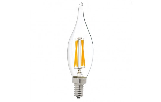 CA10 LED Filament Bulb - 40 Watt Equivalent Candelabra LED Vintage Light Bulb - Dimmable - 375 Lumens - CA10D-WW4DF-E12