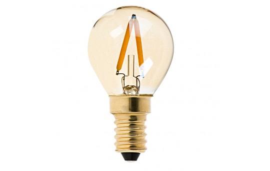 S11 LED Bulb - Gold Tint LED Filament Bulb - 10 Watt Equivalent - E14 Base - Dimmable - 95 Lumens  - S11D-x1GF-E14