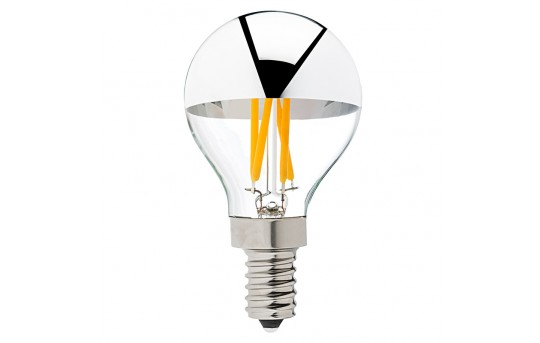 G14 Candelabra LED Bulb - Silver Tipped LED Filament Bulb - 40 Watt Equivalent - Dimmable - 275 Lumens - G14D-x3MDF-E12