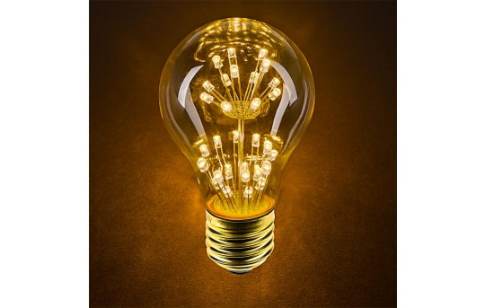 LED Fireworks Bulb - A19 Decorative Fireworks LED Bulb - 10 Watt Equivalent - Dimmable - 68 Lumens - A19D-x2FW