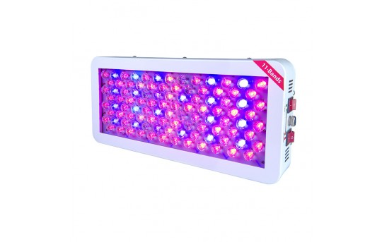 Full Spectrum LED Grow Light w/ Color Control Switches - 300W Equivalent - Rectangular Panel Grow Lamp - GLW-170W-11MB