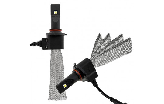 LED Headlight Kit - 9005 LED Headlight Bulbs Conversion Kit with Flexible Tinned Copper Braid - 9005-HLV3-H