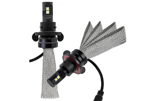 Open Box LED Headlight Kit - H13 LED Headlight Bulbs Conversion Kit with Flexible Tinned Copper Braid - H13-HLV3-OB