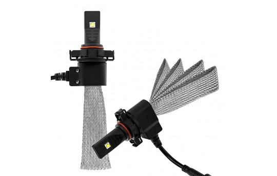Open Box LED Headlight Kit - H16 LED Headlight Bulbs Conversion Kit with Flexible Tinned Copper Braid - H16-HLV3-OB