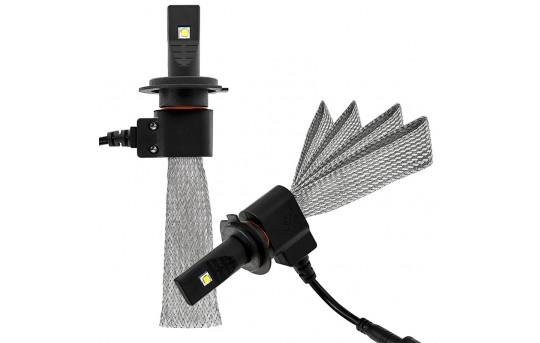 LED Headlight Kit - H7 LED Headlight Bulbs Conversion Kit with Flexible Tinned Copper Braid - H7-HLV3-H