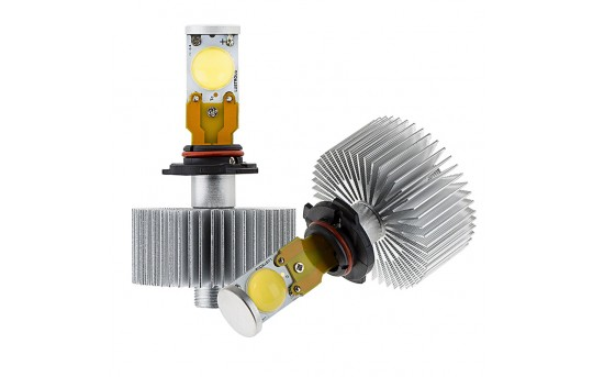 LED Headlight Kit - H10 LED Headlight Bulbs Conversion Kit with Radial Heat Sink - H10-HLV2