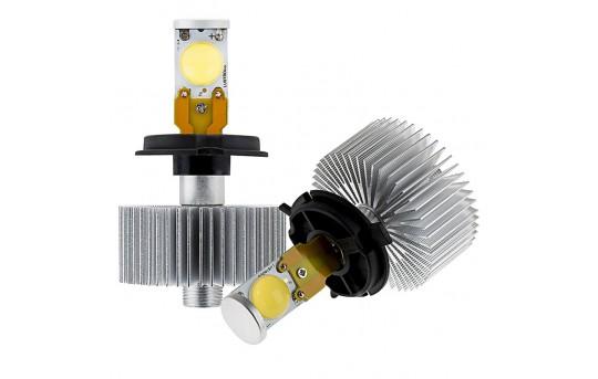 Open Box LED Headlight Kit - H4 LED Headlight Bulbs Conversion Kit with Radial Heat Sink - H4-HLV2-OB