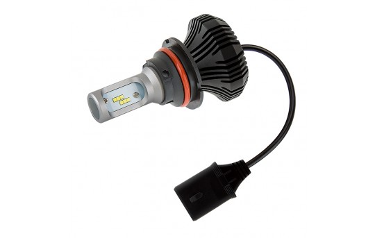 Motorcycle LED Headlight Conversion Kit - 9007 LED Fanless Headlight Conversion Kit with Compact Heat Sink - 9007-HLV4-M