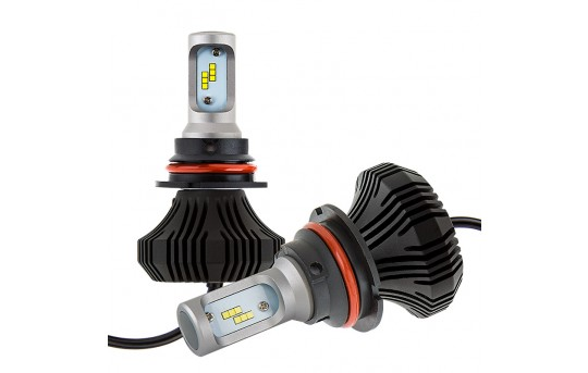 9007 LED Fanless Headlight Conversion Kit with Internal Drivers - 4,000 Lumens/Set - 9007-HLV4