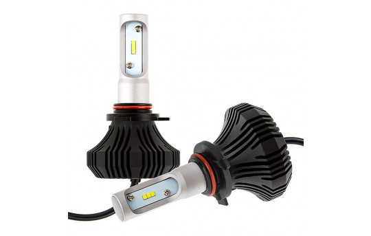 LED Headlight Kit - 9012 LED Fanless Headlight Conversion Kit with Compact Heat Sink - 9012-HLV4