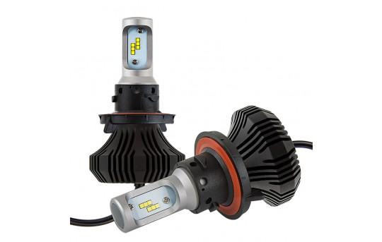 LED Headlight Kit - H13 LED Fanless Headlight Conversion Kit with Compact Heat Sink - H13-HLV4