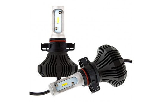 H16 LED Fanless Headlight Conversion Kit with Compact Heat Sink - 4,000 Lumens/Set - H16-HLV4