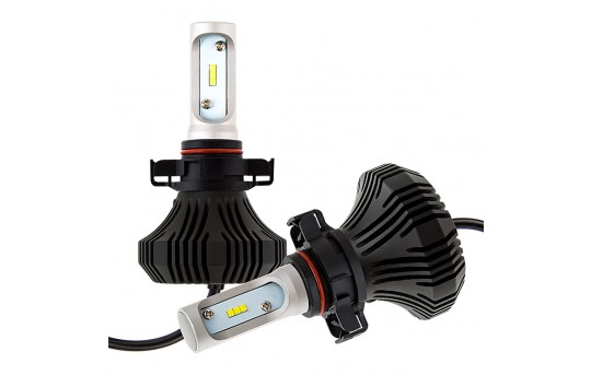 LED Headlight Kit - PSX24W LED Fanless Headlight Conversion Kit with Compact Heat Sink - 4,000 Lumens/Set - PSX24W-HLV4