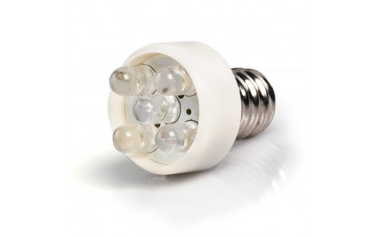 LED Night Light Bulb - T7 Bulb w/ 5 LEDs and Candelabra Base - 1.2W - 5 Lumens - E12-x5