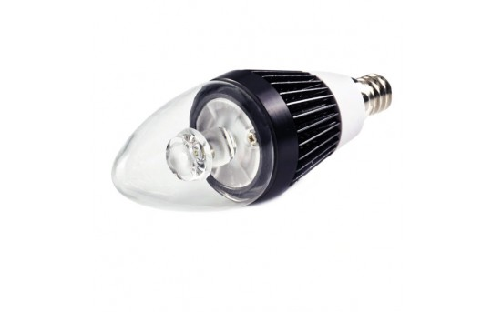 B10 LED Decorative Light Bulb - 10 Watt Equivalent Candelabra LED Bulb w/ Blunt Tip - 75 Lumens - E12-x3W-C37
