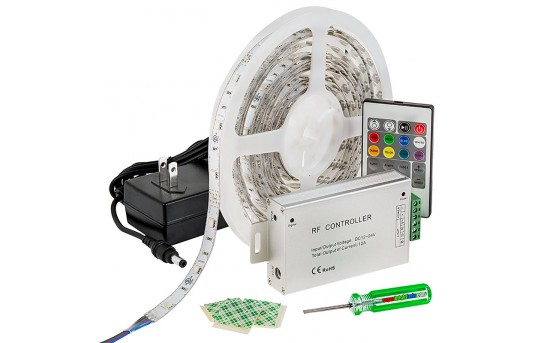 RGB LED Strip Light Kit - 12V LED Tape Light - 122 Lumens/ft. - NFLSK-RGB150-RF