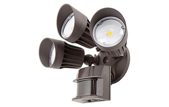 LED Motion Sensor Light - 3 Head Security Light - 30W - 2,450 Lumens - MASL-NW30-TBR