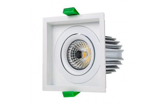 LED Recessed Light Engine w/ Square 98mm Aimable Trim - 75 Watt Equivalent - RLFM-x12W-x-98S
