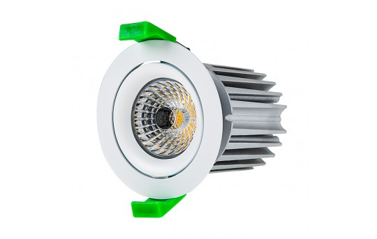 LED Recessed Light Engine w/ Round 75mm Aimable Ring - 115 Watt Equivalent - RLFM-x12W-x-75R