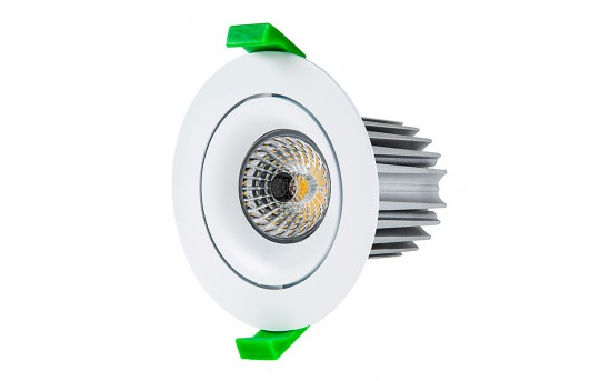 LED Recessed Light Engine w/ Round 90mm Aimable Ring - 115 Watt Equivalent - RLFM-x12W-x-90R