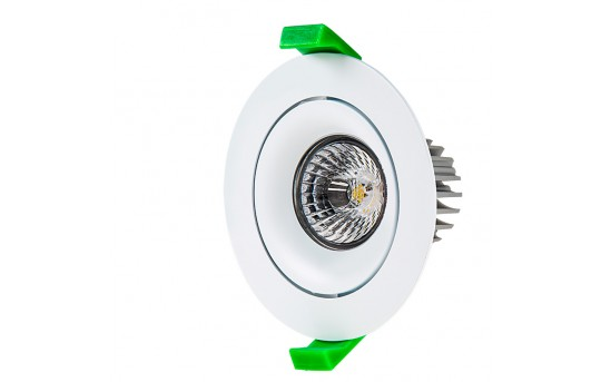 LED Recessed Light Engine w/ Round 90mm Aimable Ring - 60 Watt Equivalent - RLFM-x8W-x-90R