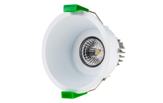 LED Recessed Light Engine w/ Round 90mm White Reflector - 60 Watt Equivalent - RLFM-x8W-x-90RD