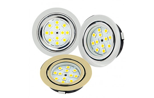 Recessed LED Puck Lights - 12 LED - 20 Watt Equivalent - 170 Lumens - RLF-x12SMD