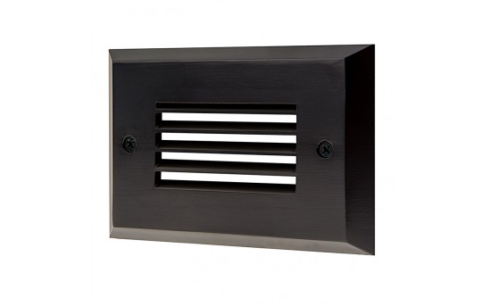 Face Plate for Rectangular LED Step Light - Open Window or Louvered - SLRE-x