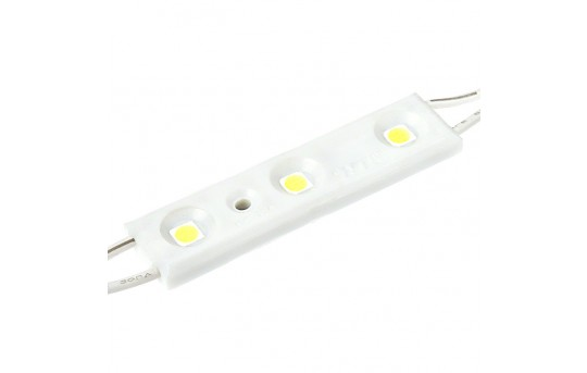 Single Color LED Module - Linear Constant Current Sign Module w/ 3 SMD LEDs - 48 Lumens - LSMCC-x3X3-LP
